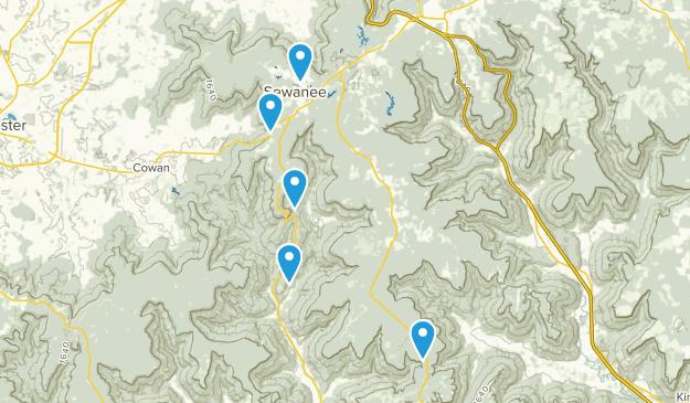 Sewanee, Tennessee Trail Running Map