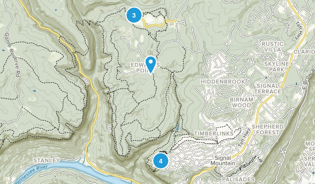 Signal Mountain, Tennessee Walking Map
