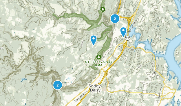 Soddy Daisy, Tennessee Hiking Map