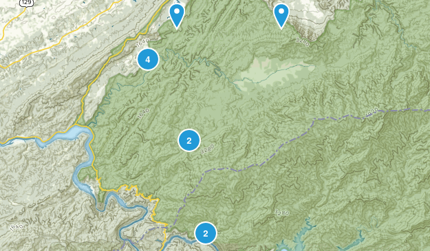 Tallassee, Tennessee Hiking Map