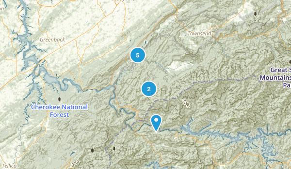 Tallassee, Tennessee Trail Running Map