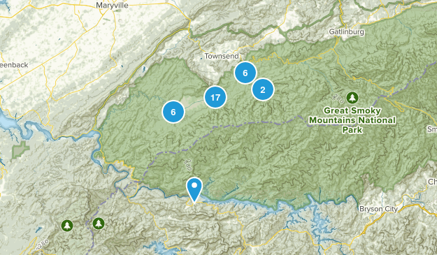 Townsend, Tennessee Nature Trips Map