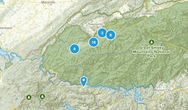 Townsend, Tennessee Wildlife Map