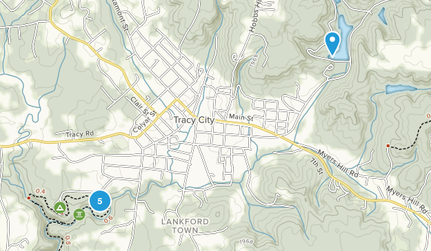 Tracy City, Tennessee Forest Map