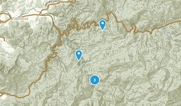 Tremont, Tennessee Hiking Map