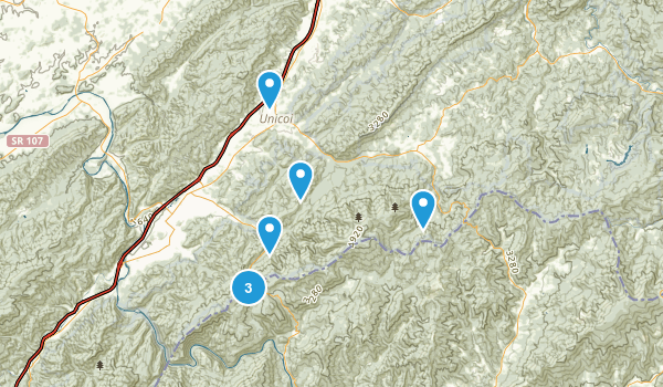 Unicoi, Tennessee Views Map