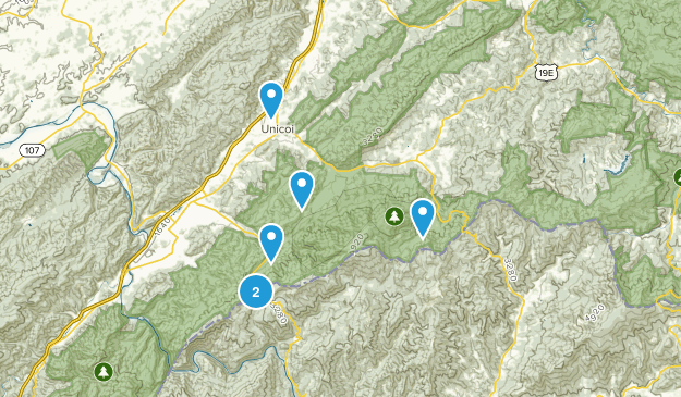 Unicoi, Tennessee Walking Map