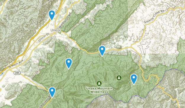 Unicoi, Tennessee Wildlife Map