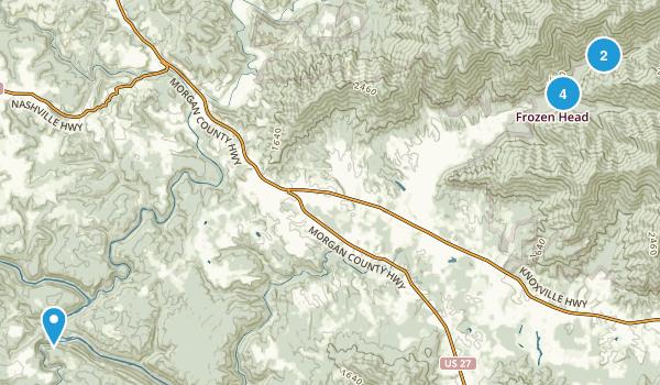 Wartburg, Tennessee Walking Map