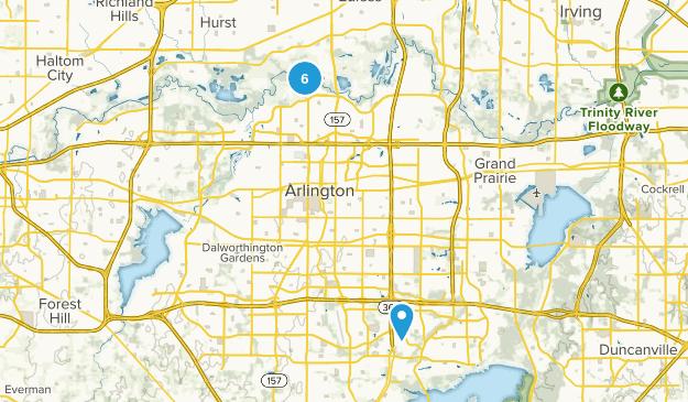 Arlington, Texas River Map