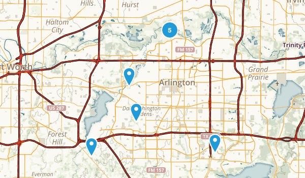 Arlington, Texas Trail Running Map