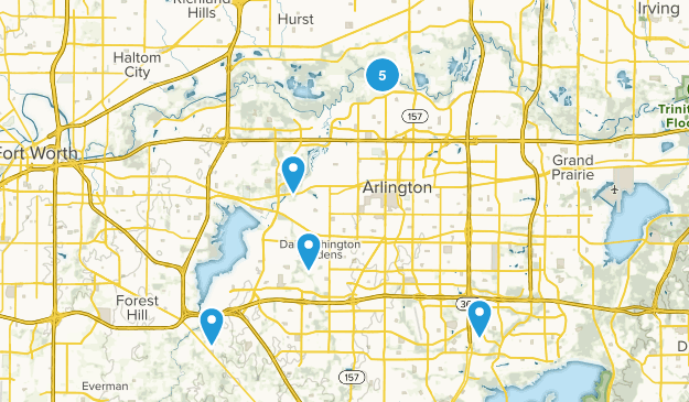 Arlington, Texas Trail Running Map