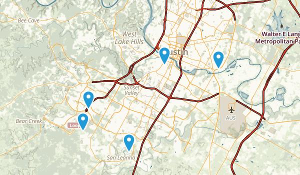 Austin, Texas Road Biking Map