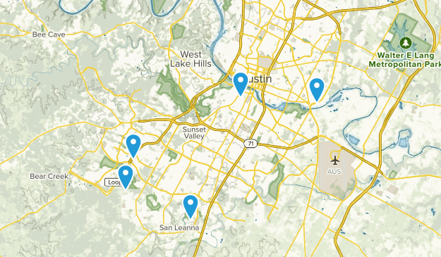 Austin, Texas Road Biking Map