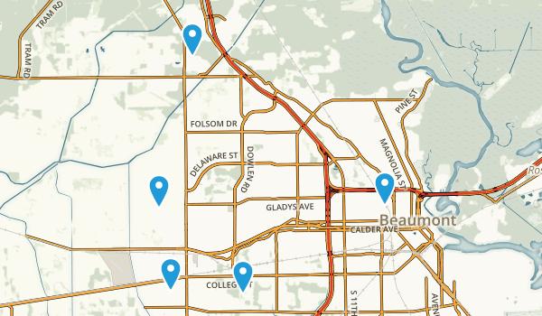 Beaumont, Texas Walking Map