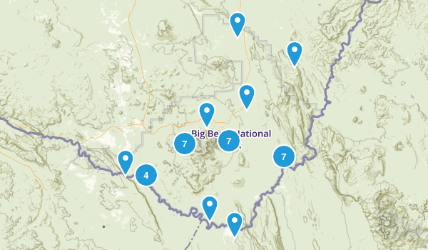 Big Bend National Park, Texas Nature Trips Map