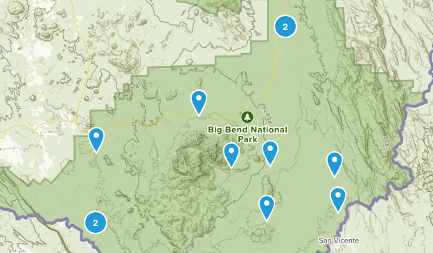 Big Bend National Park, Texas Off Road Driving Map
