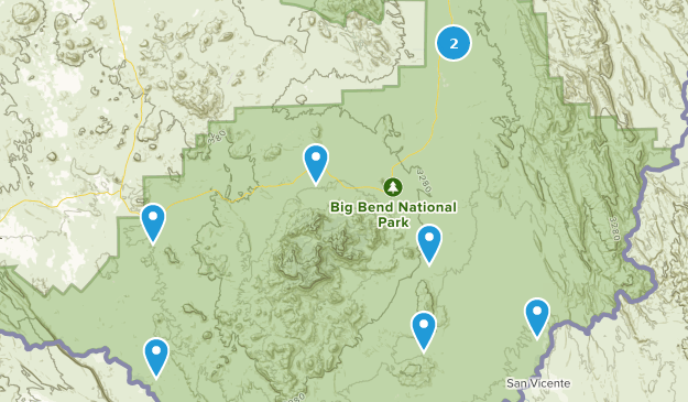 Map Of Texas Driving.Best Off Road Driving Trails Near Big Bend National Park Texas