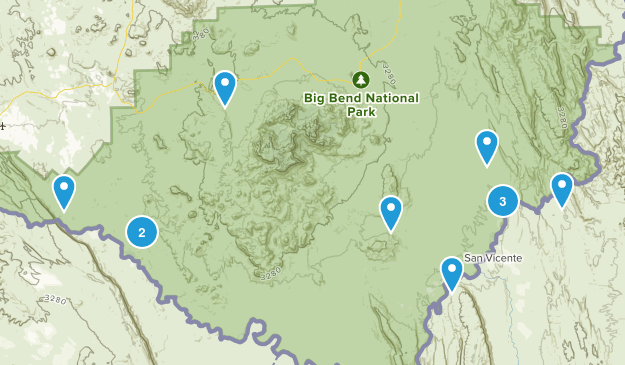 Big Bend National Park, Texas River Map