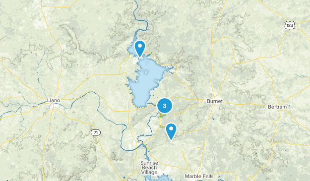 Burnet, Texas Hiking Map