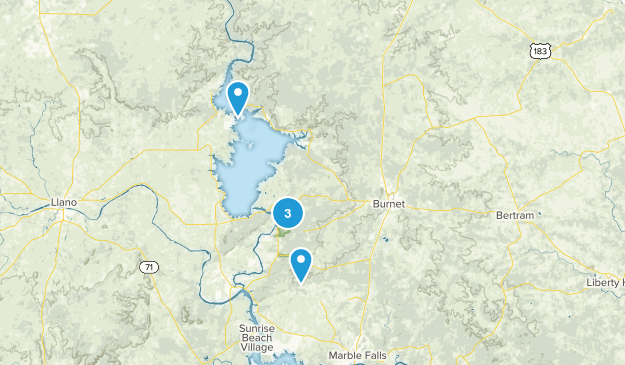 Burnet, Texas Walking Map