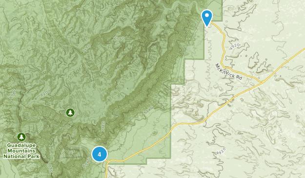 Carlsbad, Texas Camping Map