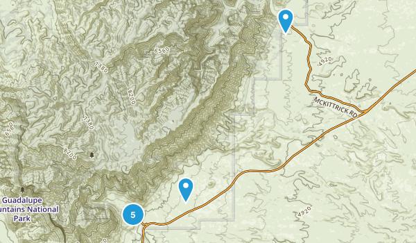 Carlsbad, Texas Hiking Map