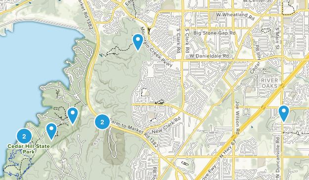 Cedar Hill, Texas Hiking Map