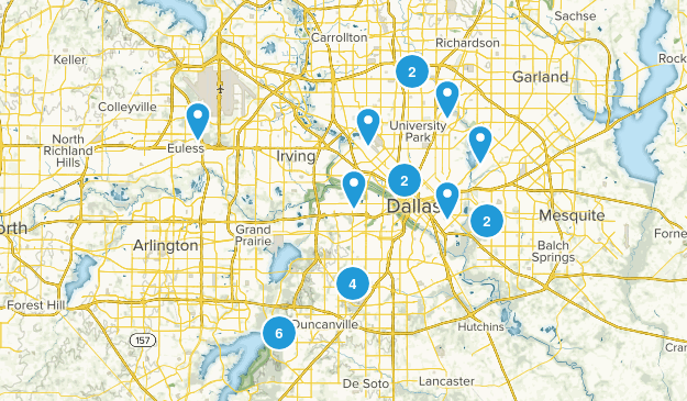Dallas, Texas Dogs On Leash Map