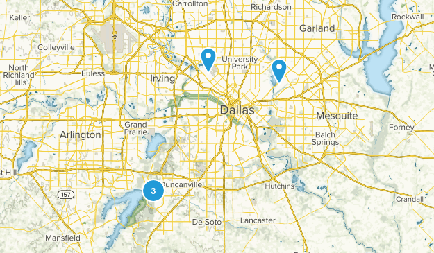 Dallas, Texas Lake Map