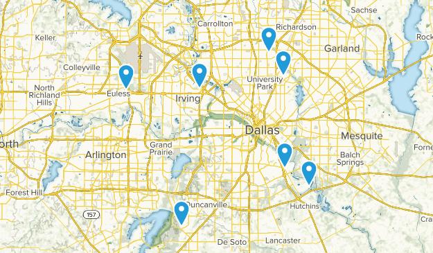 Dallas, Texas River Map