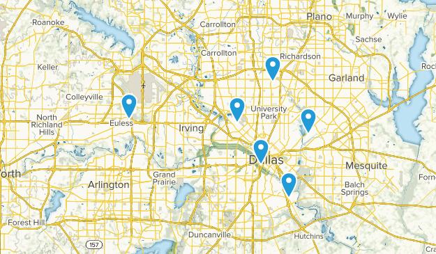 Dallas, Texas Road Biking Map