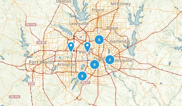 Dallas, Texas Trail Running Map