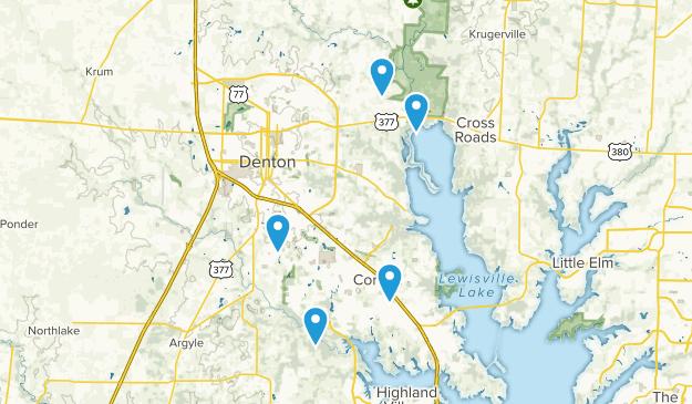 Denton, Texas Lake Map