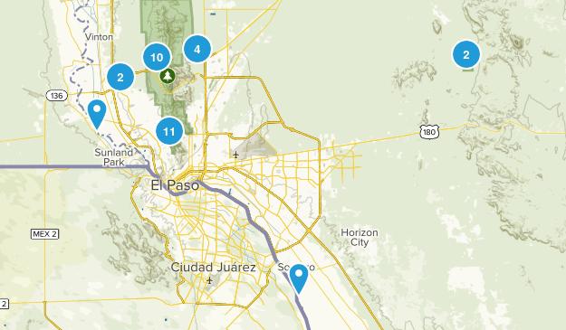 El Paso, Texas Birding Map