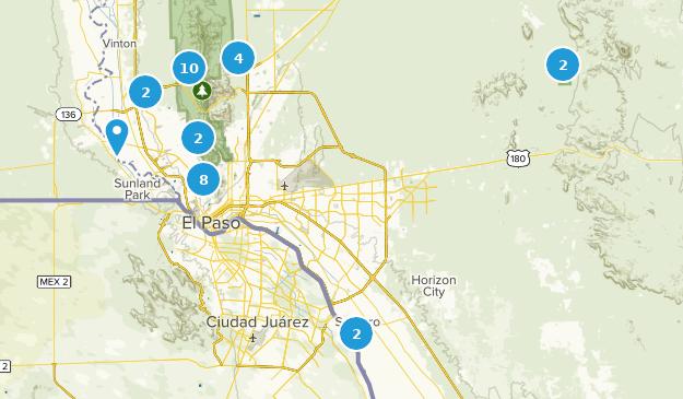 El Paso, Texas Bird Watching Map
