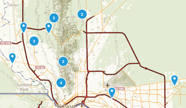 El Paso, Texas Dogs On Leash Map