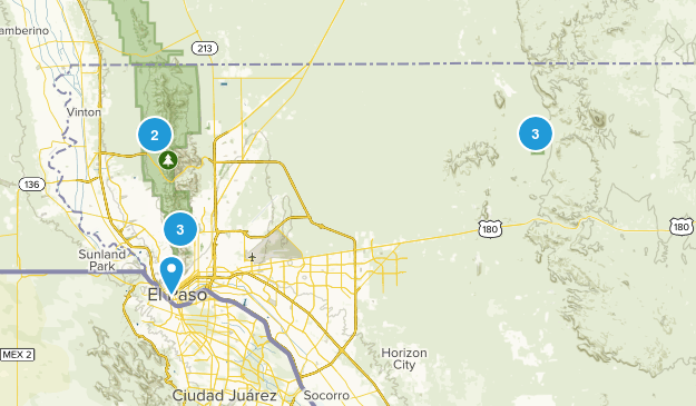 El Paso, Texas No Dogs Map