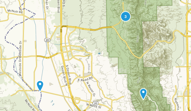 El Paso, Texas Forest Map