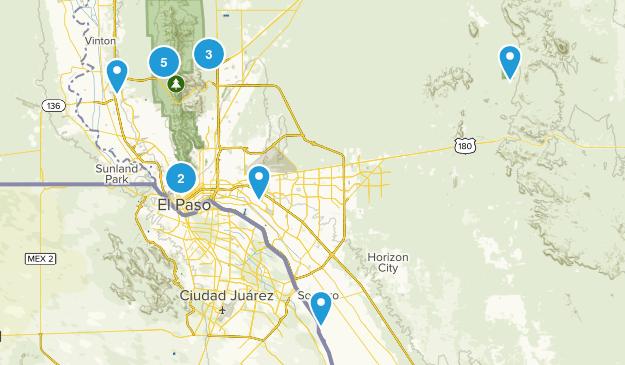 El Paso, Texas Kid Friendly Map