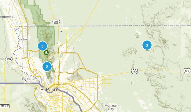 El Paso, Texas Rock Climbing Map