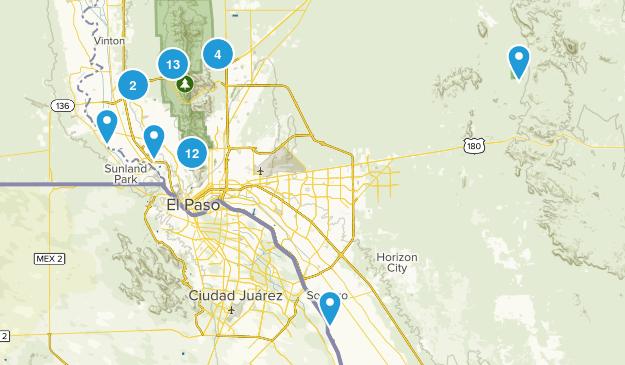 El Paso, Texas Wild Flowers Map