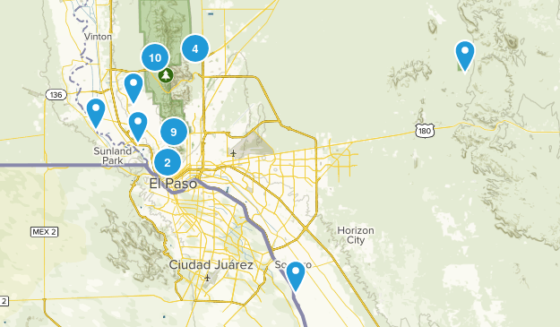 El Paso, Texas Wildlife Map