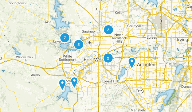 Fort Worth, Texas Dogs On Leash Map