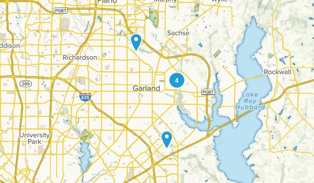 Garland, Texas Walking Map