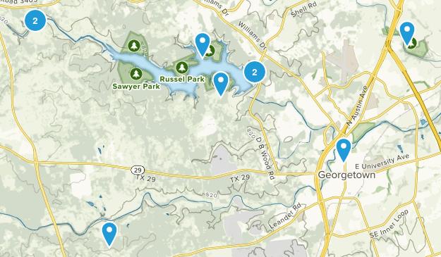 Georgetown, Texas Birding Map