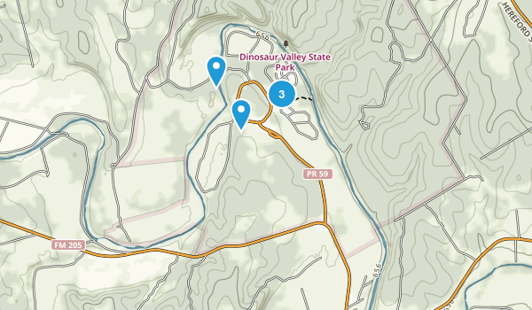 Glen Rose, Texas Hiking Map