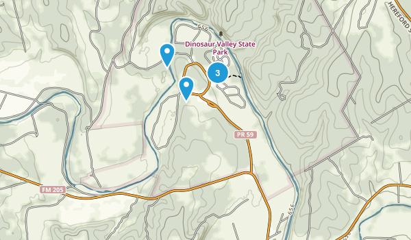 Glen Rose, Texas Walking Map