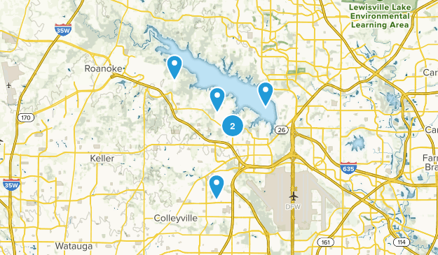 Grapevine, Texas Dogs On Leash Map