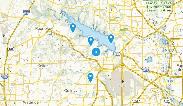 Grapevine, Texas Hiking Map